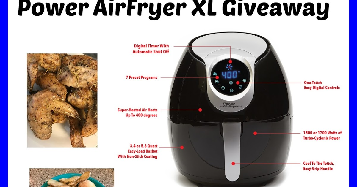 Top Notch Material Power Airfryer Xl Giveaway