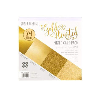 Gold Hearted Paper Pad