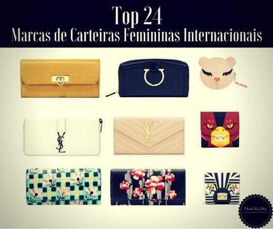 Top 24 Marcas de Carteiras Femininas Internacionais