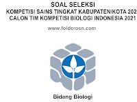 SOAL DAN JAWABAN KSN BIOLOGI TAHUN 2020 TINGKAT KABUPATEN