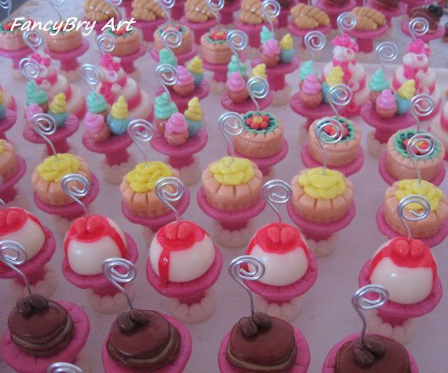 FancyBry Art: Mini alzatine segnaposti con dolcetti