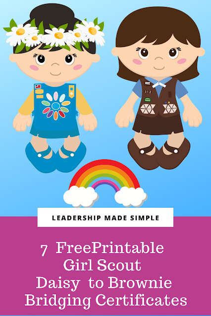 7 Cute and Free Printable Girl Scout Daisy to Brownie Bridging Certificates