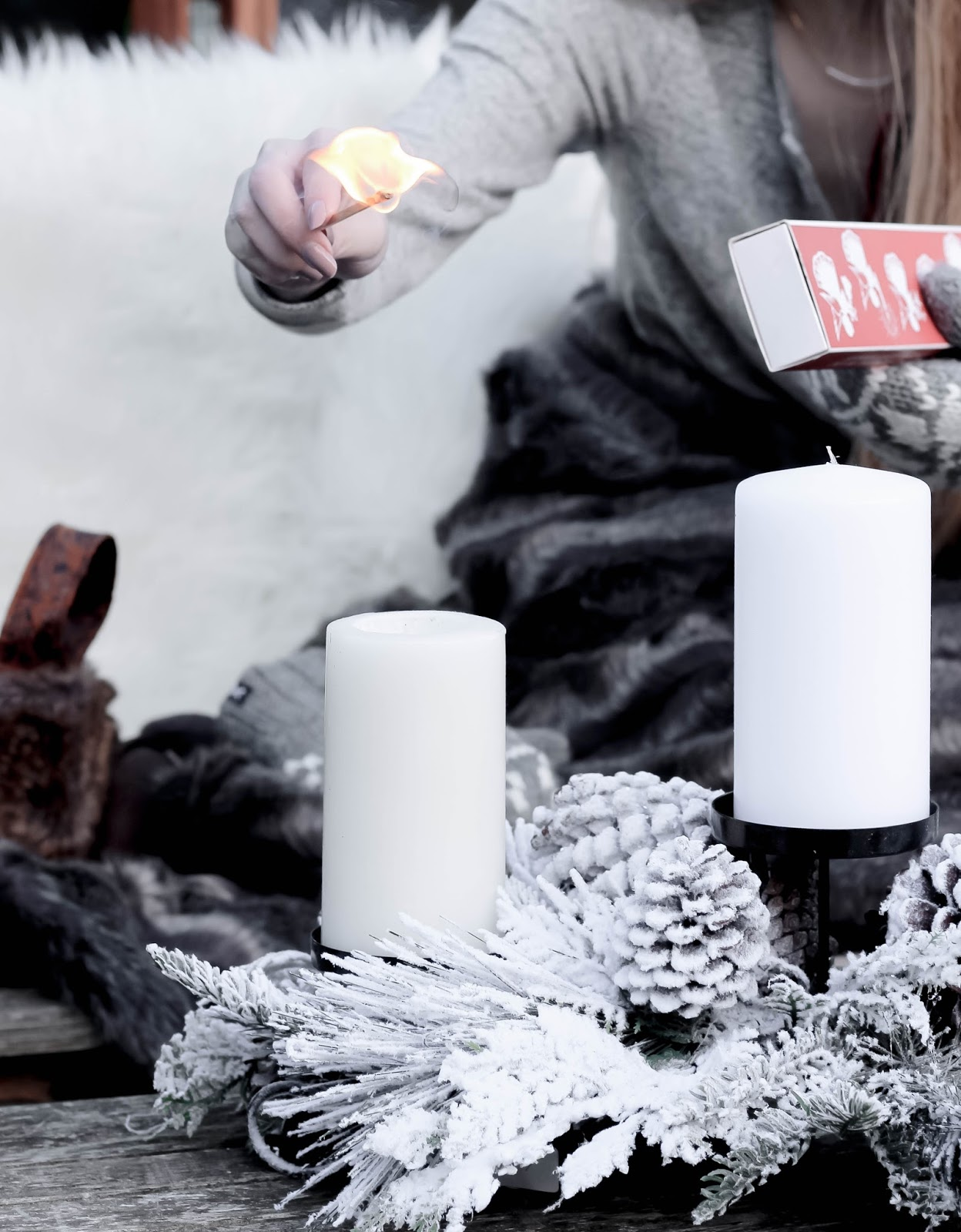 Lighting Luxurious Candles with Matches