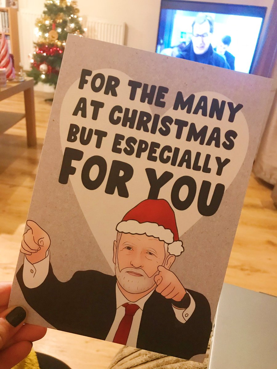 Jeremy Corbyn christmas card