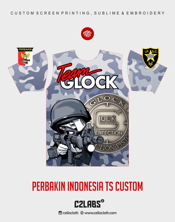 Ts 9 Perbakin Indonesia Baju Kaos Jersey Printing - Vendor Printing Jersey Jogja 2