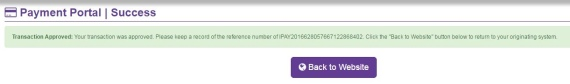 Hollywoodbets confirmation page of successful deposit via iPay