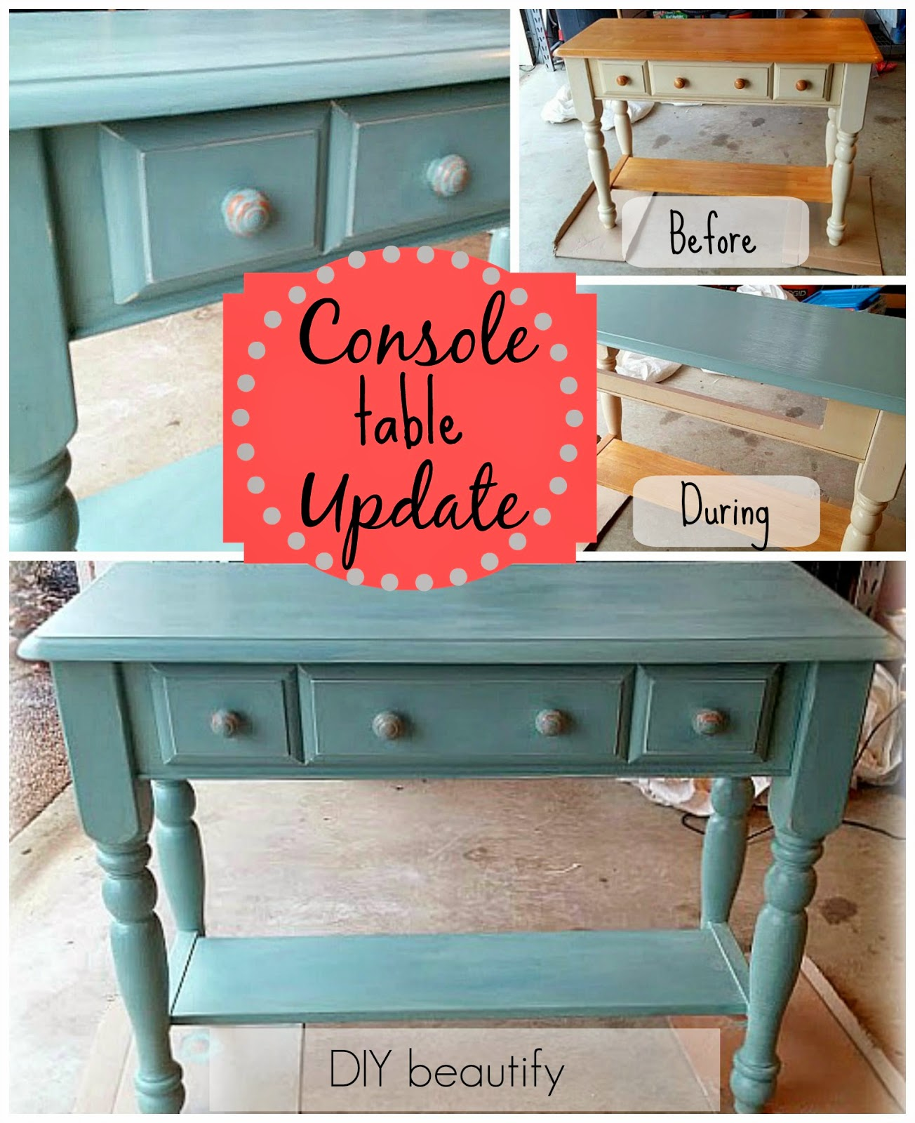 Console Table Makeover www.diybeautify.com