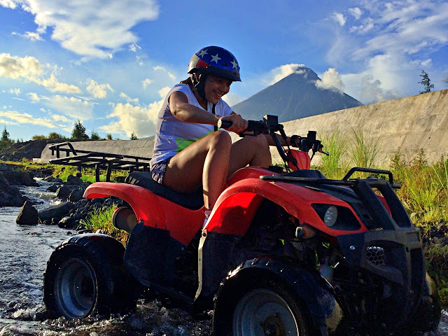 ATV ride in Mayon with Monette Santillan