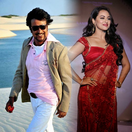 Sonakshi Sinha and RajiniKanth Romance cannot stop the age difference