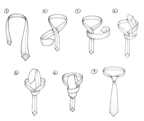How to Tie A Tie : AN ORIENTAL (OR SIMPLE) KNOT