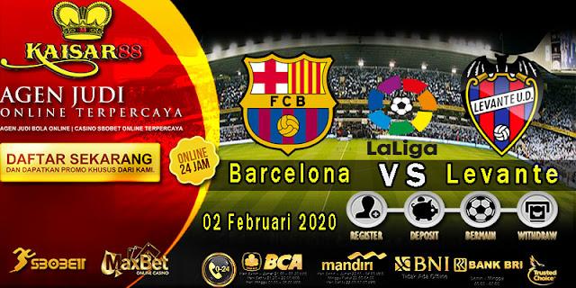 Prediksi Bola Terpercaya Liga Spanyol Barcelona Vs Levante 3 February 2020