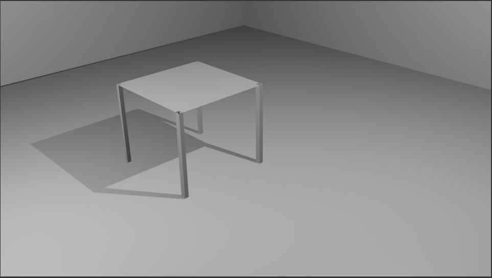 table with a point lamp