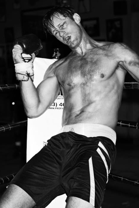 Alexander Skarsgard in Boxing Ring