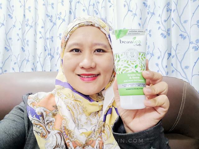 MUKA BREAKOUT ! MUMMY GUNAKAN BEAUTEA by SAFI Gel Pembersih Muka Anti Jerawat – Green Tea & Neem