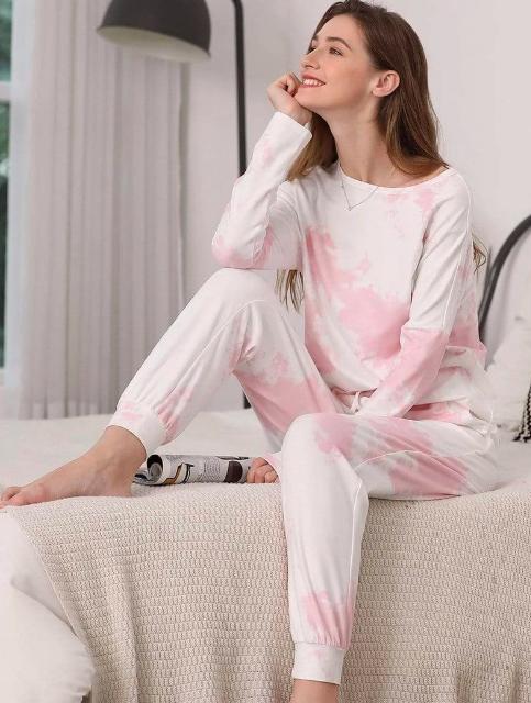Pajama set tie dye