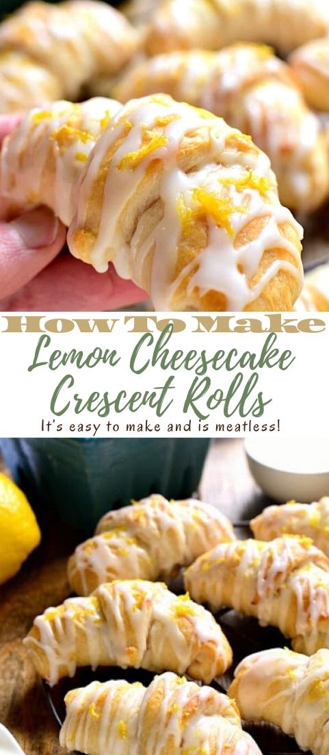 Lemon Cheesecake Crescent Rolls #desserts #cakerecipe #chocolate #fingerfood #easy