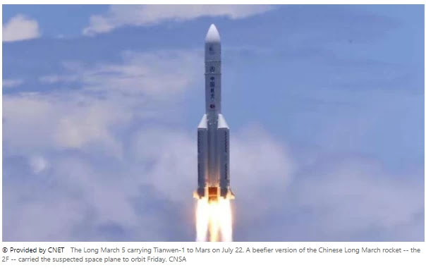 China launches secret 'reusable experimental spacecraft'  China says it has successfully launched