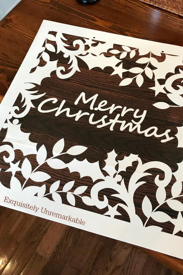 Brown and White Merry Christmas Gift Bag
