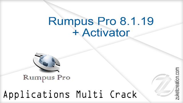 Rumpus Pro 8.1.19 + Activator   |   11 MB
