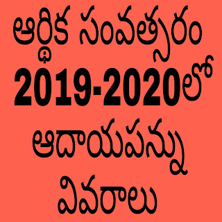 Income Tax Details for Fiscal Year 2019-2020 *