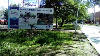 Preocupación por aparente abandone del Parque Lineal los Trupillo