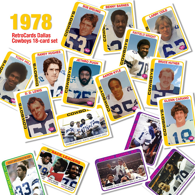 Topps 1978 Dallas Cowboys fantasy cards