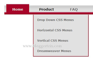 drop down menu html template - how to add css3 drop down menu for blogger blogger tips