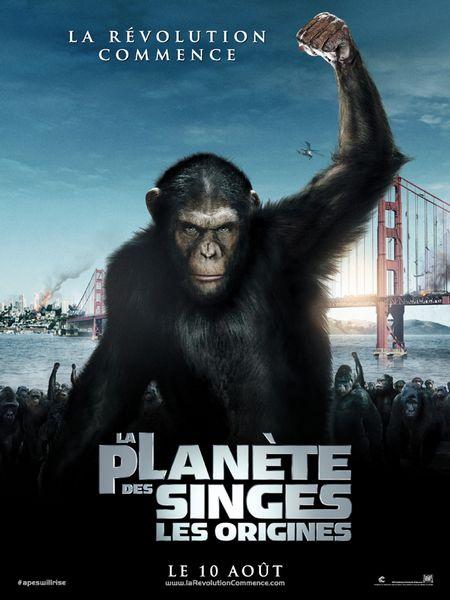 La Planète des singes les origines affiche du film