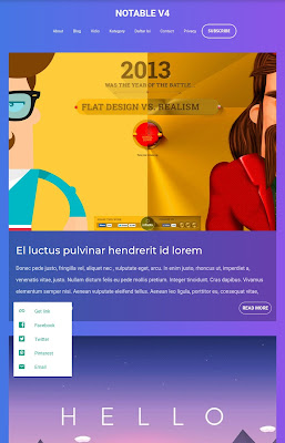 Notable Theme Blogger Free Download | Responsive Customizable Blogger Template