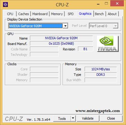 Cara Melihat Spesifikasi VGA dengan CPU-Z