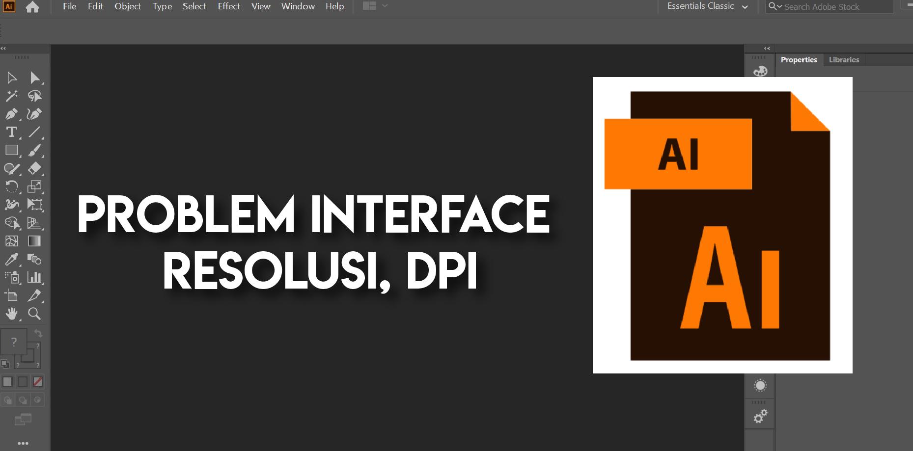 Mengatasi Masalah Resolusi Tampilan di Adobe Illustrator