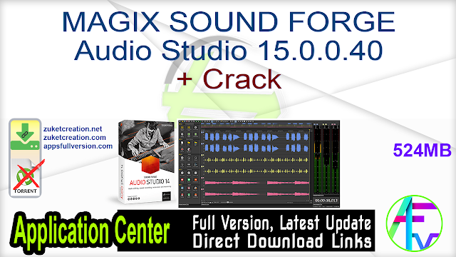 MAGIX SOUND FORGE Audio Studio 15.0.0.40 + Crack