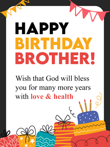 Special Birthday Wishes for Brother