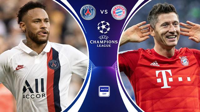 موعد مباراة باريس سان جيرمان وبايرن ميونخ في دوري أبطال أوروبا والقناةالناقلة