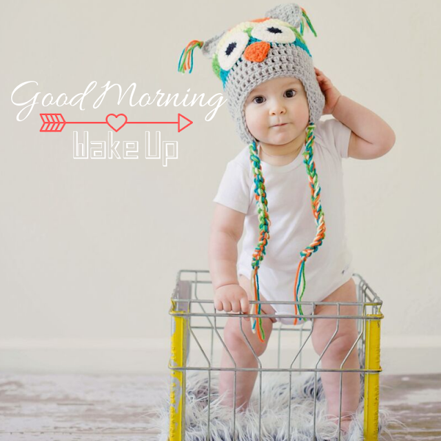Cute Standing Baby Good Morning Images