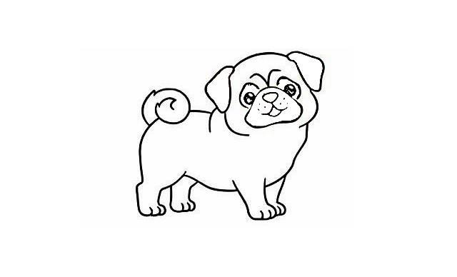 dibujos faciles de perros pug