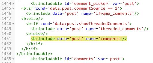 cara membuat tombol show hide komentar blogger