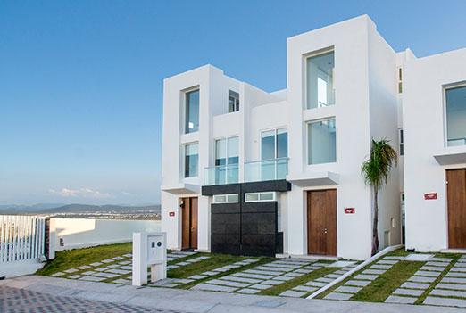 Fachadas minimalistas for Fachadas de casas modernas en queretaro