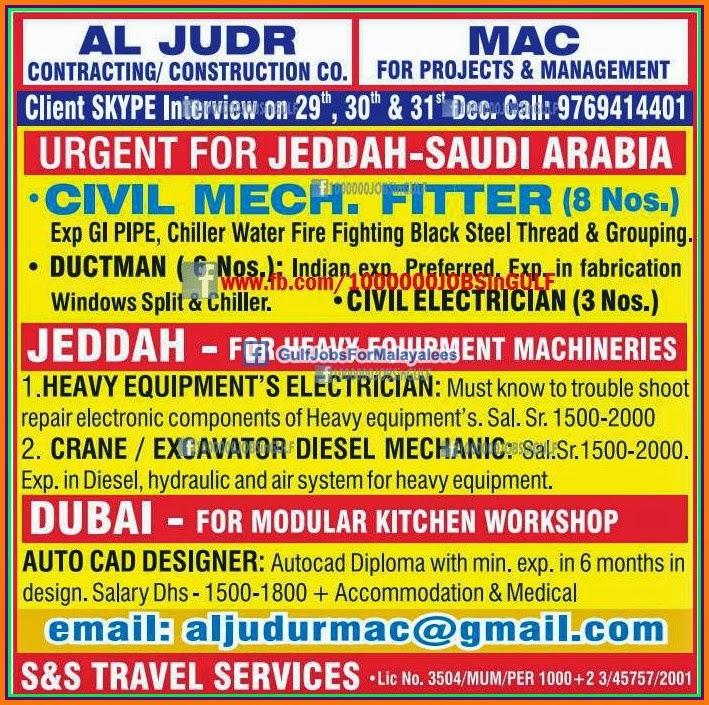 contracting construction company ksa dubai job vacancies gulf