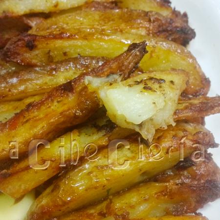 La mejor patata nueva asada en gajos