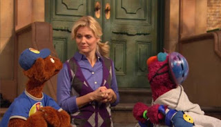 Gina finds Baby Bear watching Telly when practicing his Bing Bang Boing. Sesame Street Episode 4421, The Pogo Games, Season 44.