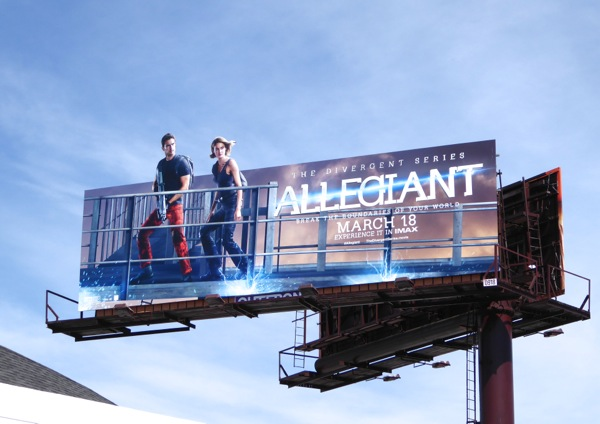 Allegiant Four Tris special extension billboard