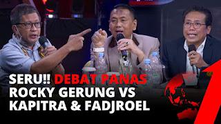 Panas! Debat Rocky Gerung VS Kapitra Ampera & Fadjroel Soal Kebebasan Berpendapat