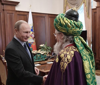 Russian President with Chairman of Central Spiritual Directorate of Russian Muslims Talgat Tadzhuddin.