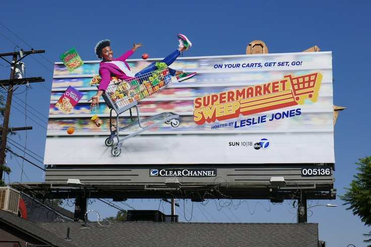 Supermarket Sweep Leslie Jones extension billboard
