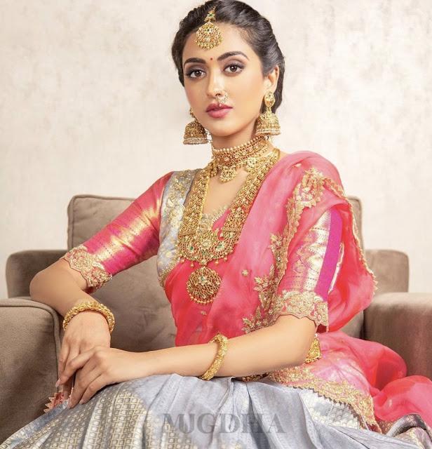 Model in Heavy Temple Jewellery