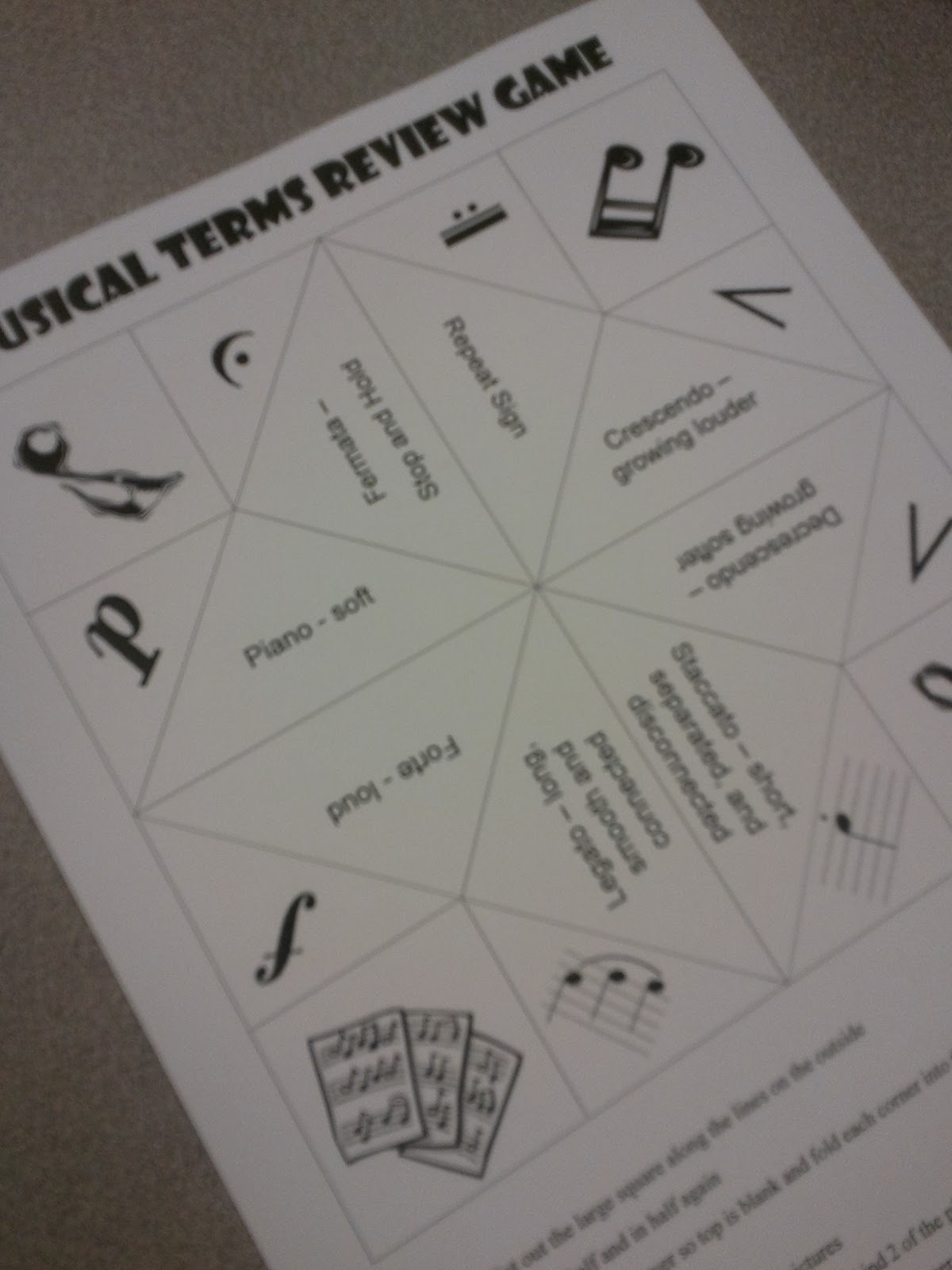 We Music Hses Musical Terms Fortune Teller