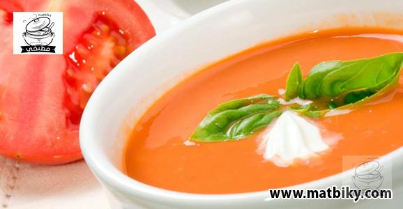 طريقة عمل شوربة الطماطم بالكريمة بالخطوات | وصفة تحضير شوربة الطماطم بالكريمة