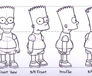 blueprint - Bart Simpson