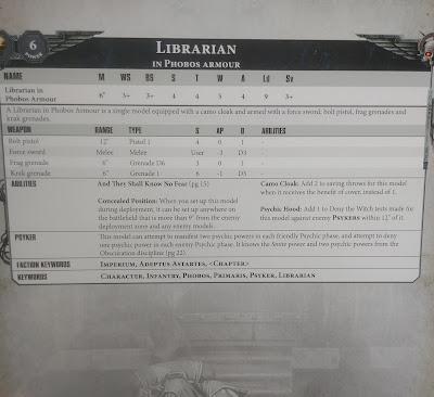 Librarian Phobos armour